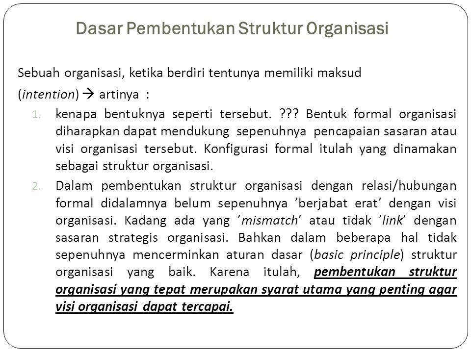 Dasar Pembentukan Struktur Organisasi