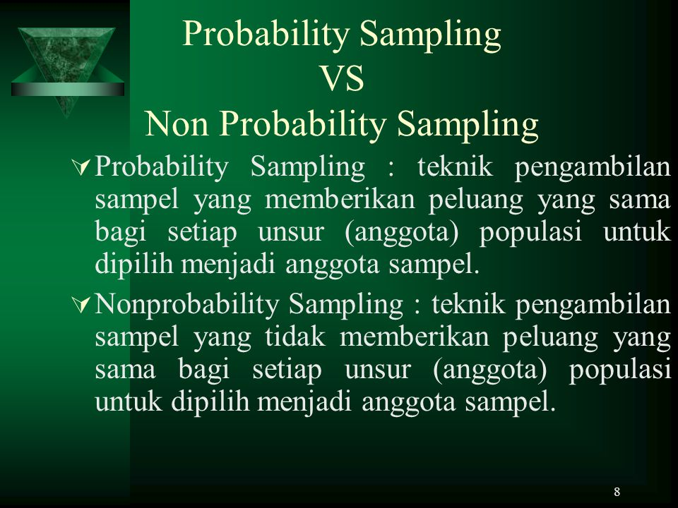 Probability Sampling VS Non Probability Sampling