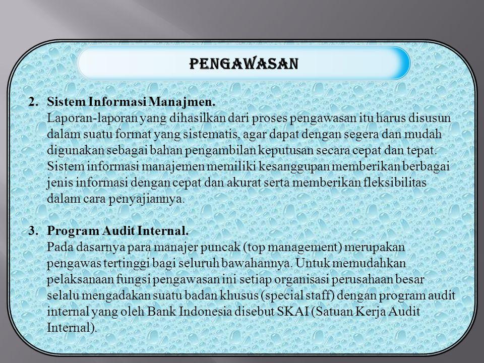 pengawasan Sistem Informasi Manajmen.
