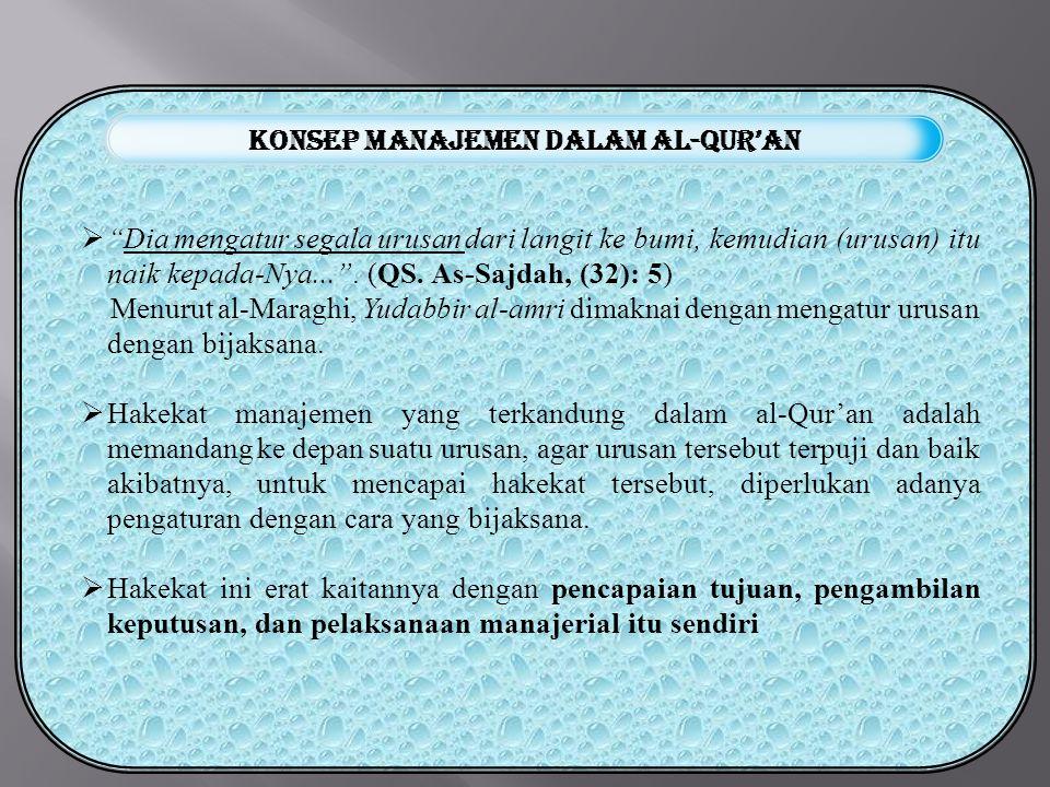 Konsep manajemen dalam Al-Qur'an