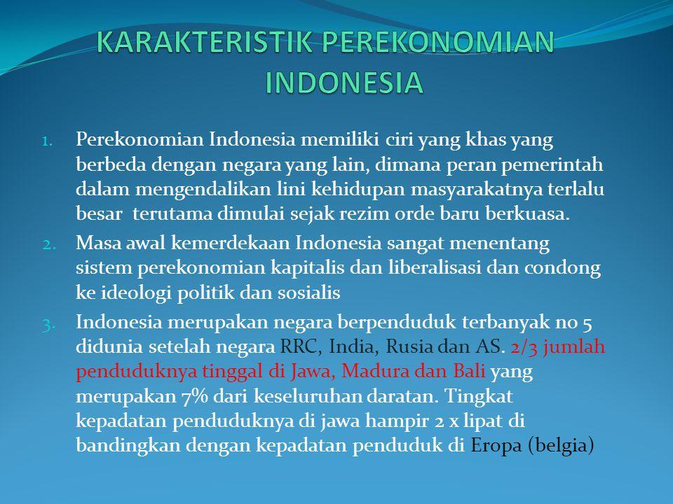 KARAKTERISTIK PEREKONOMIAN INDONESIA