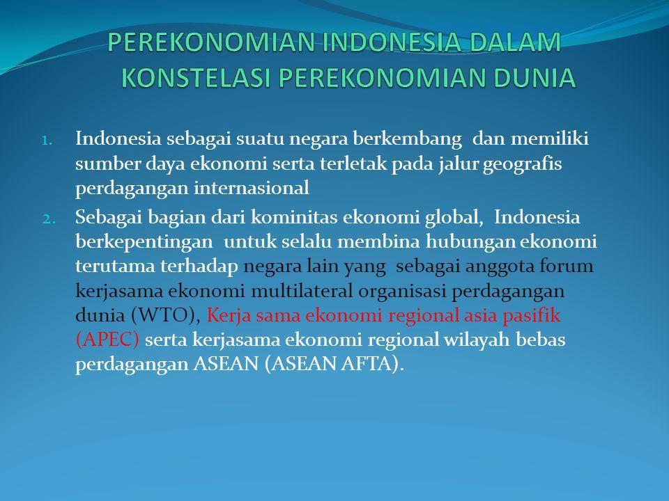 PEREKONOMIAN INDONESIA DALAM KONSTELASI PEREKONOMIAN DUNIA