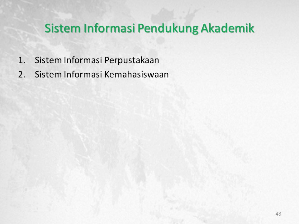 Sistem Informasi Pendukung Akademik