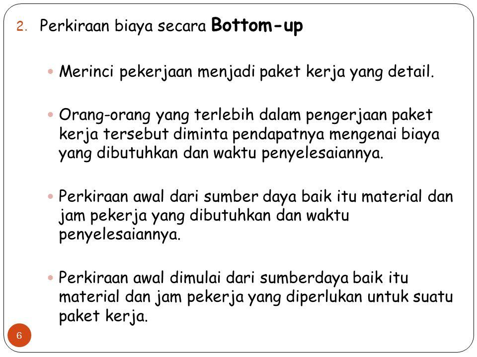 Perkiraan biaya secara Bottom-up
