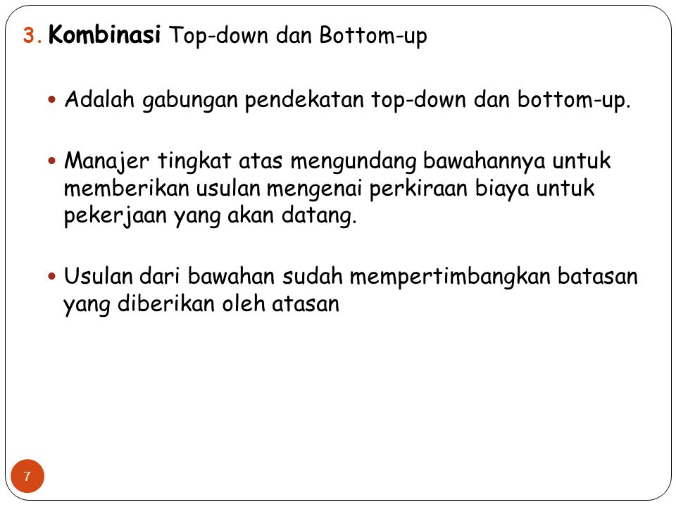 Kombinasi Top-down dan Bottom-up