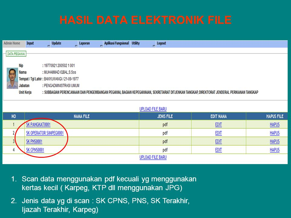 HASIL DATA ELEKTRONIK FILE