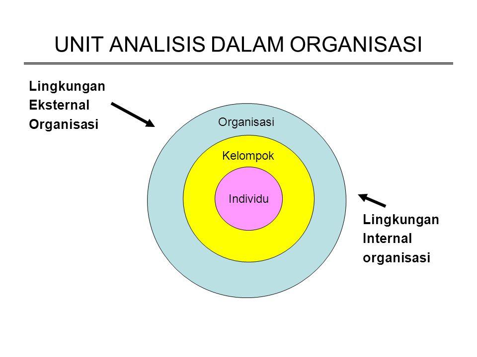 UNIT ANALISIS DALAM ORGANISASI