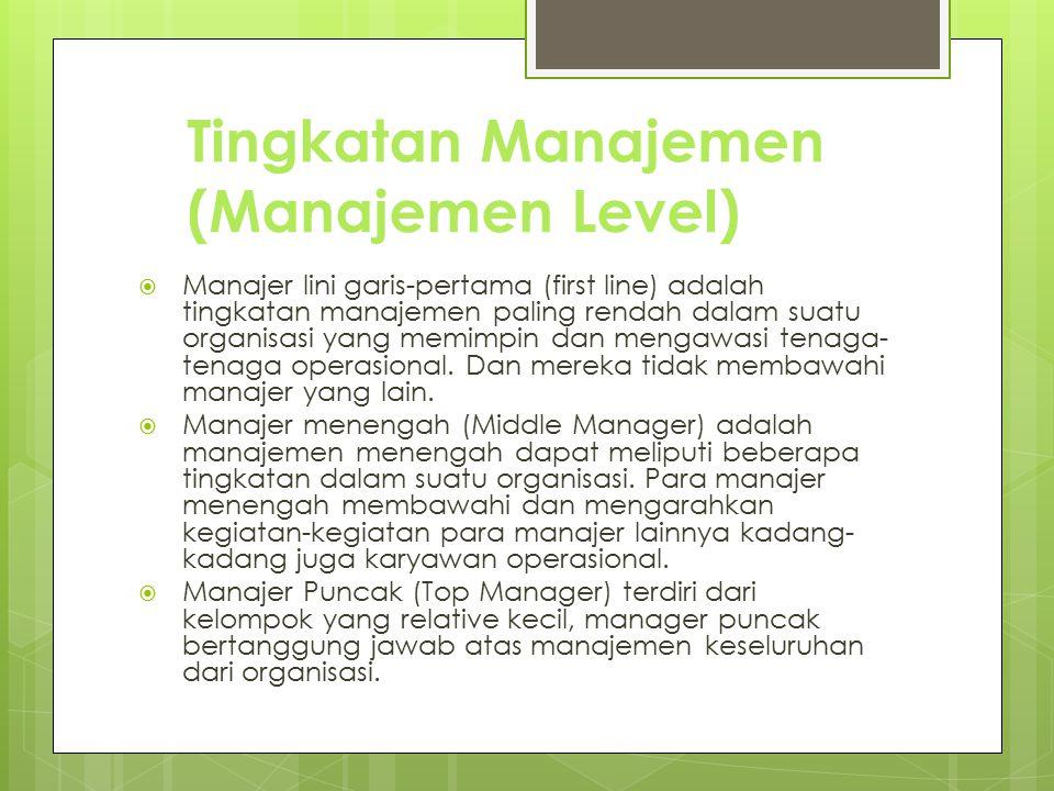 Tingkatan Manajemen (Manajemen Level)