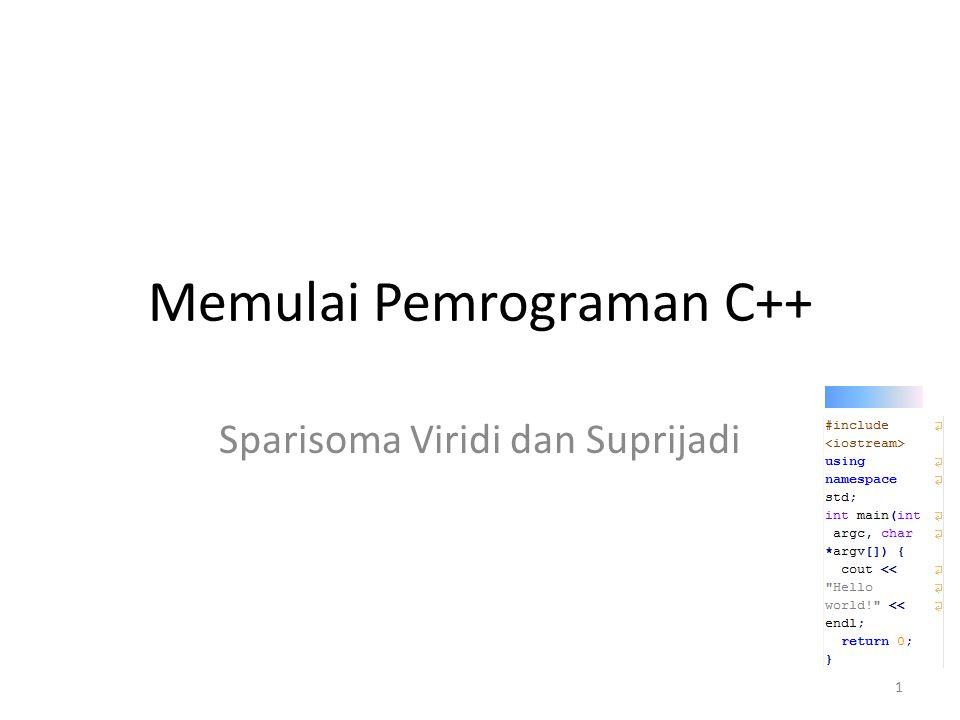 Memulai Pemrograman C++