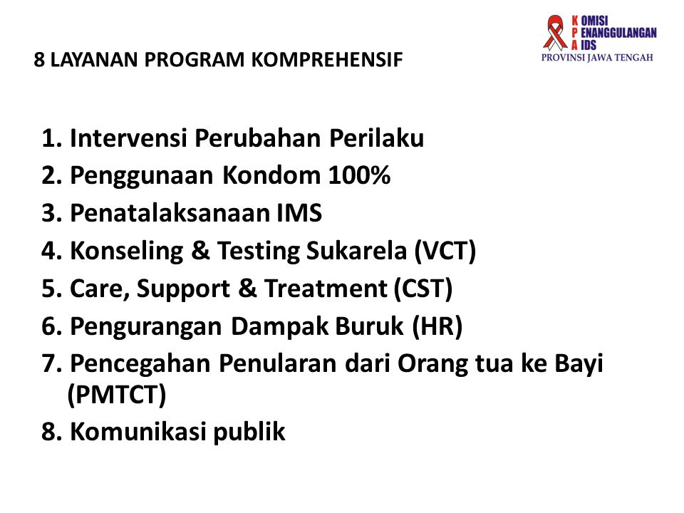 8 LAYANAN PROGRAM KOMPREHENSIF