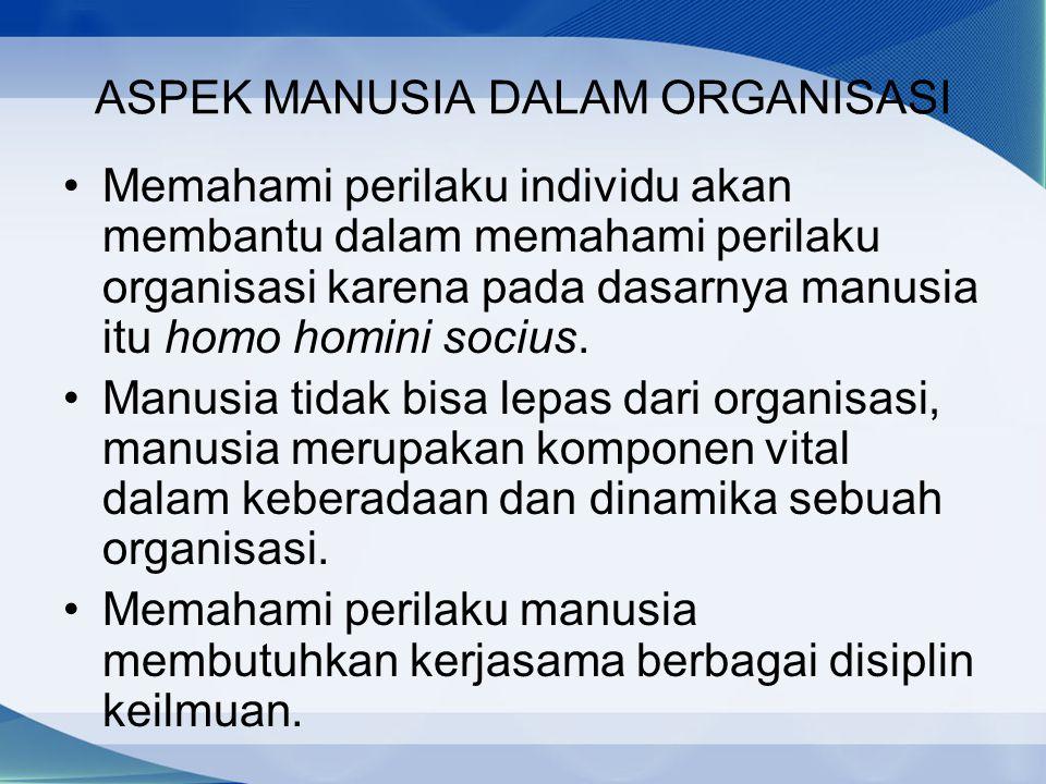 ASPEK MANUSIA DALAM ORGANISASI
