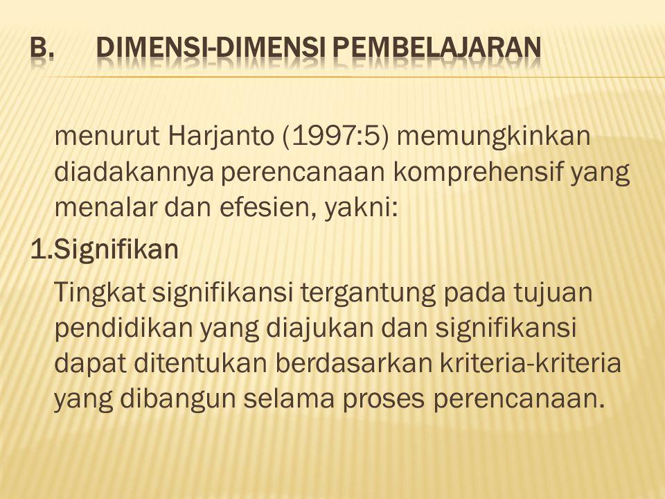 B. Dimensi-dimensi Pembelajaran