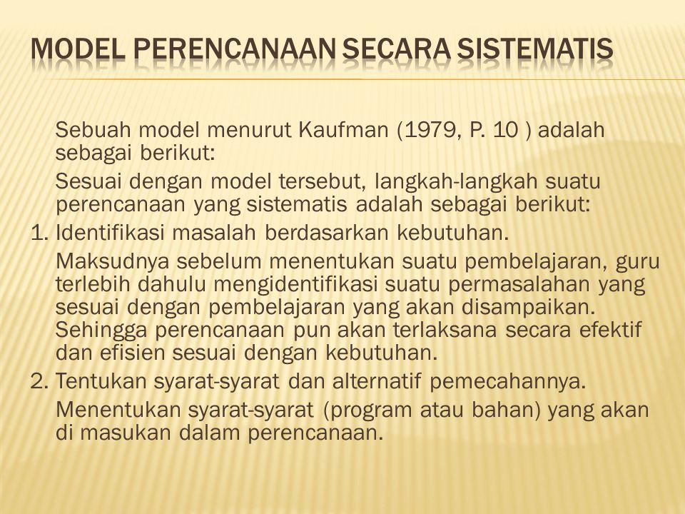 Model perencanaan secara sistematis