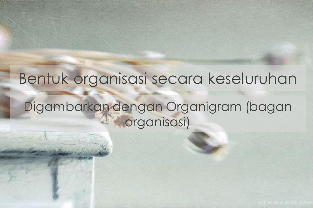 Bentuk organisasi secara keseluruhan