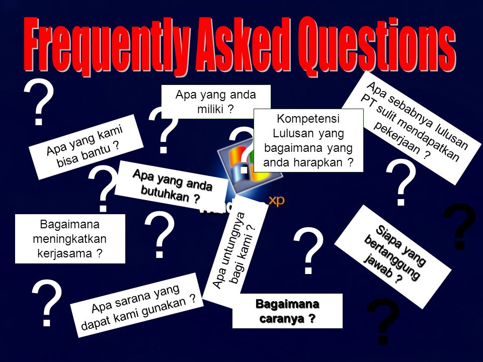 Frequently Asked Questions Apa yang anda miliki
