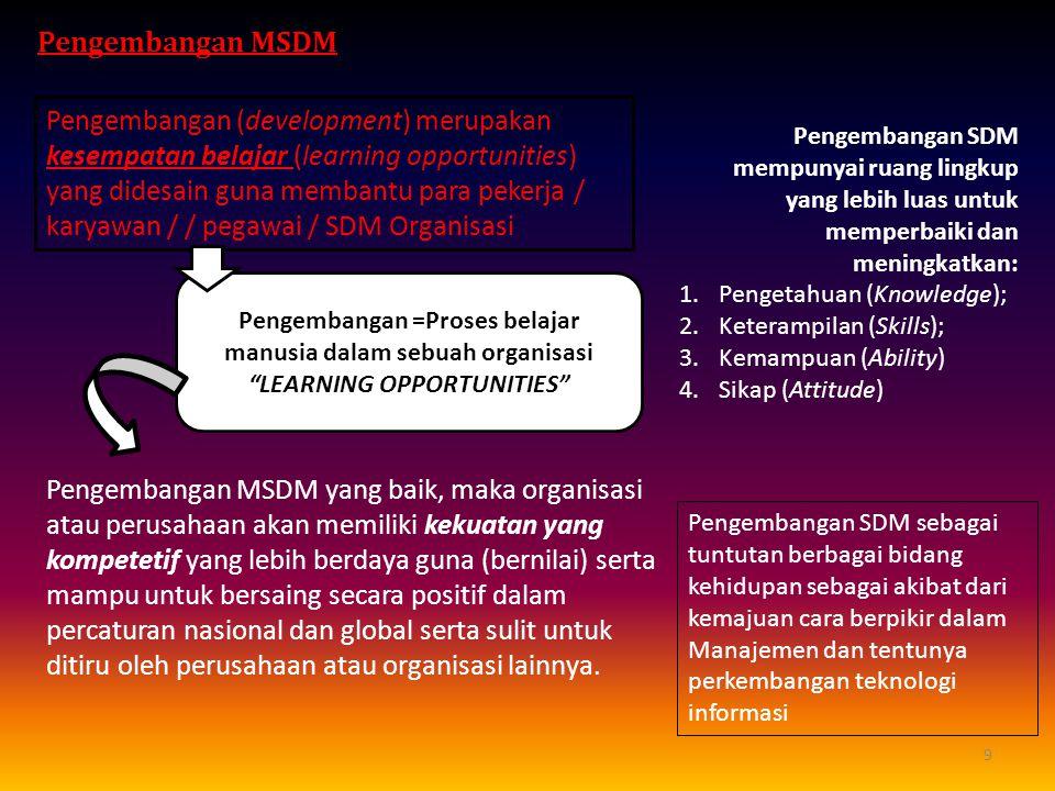 Pengembangan MSDM