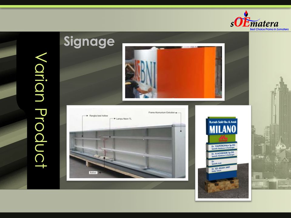 Varian Product Signage