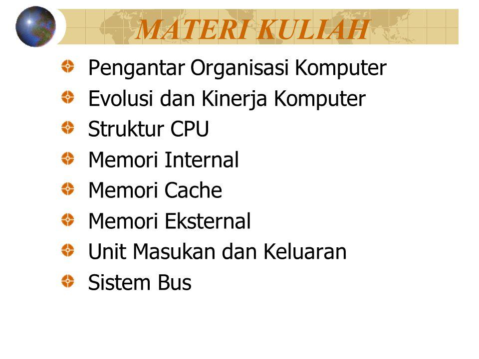 MATERI KULIAH Pengantar Organisasi Komputer