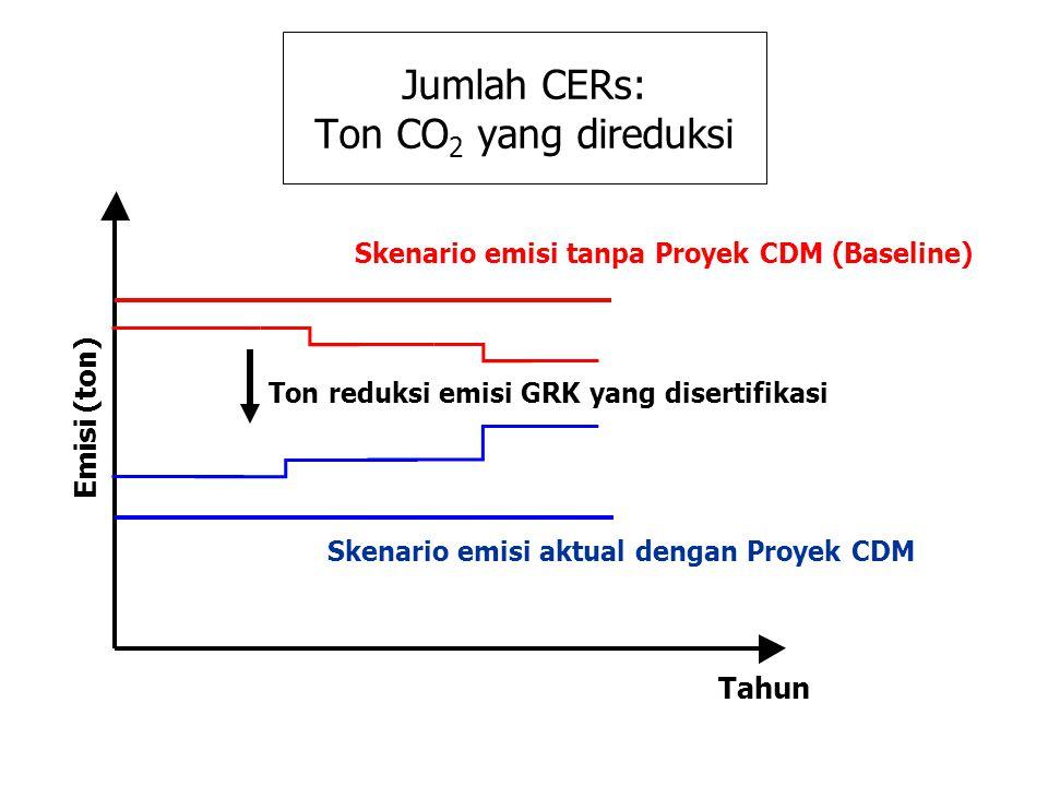 Jumlah CERs: Ton CO2 yang direduksi