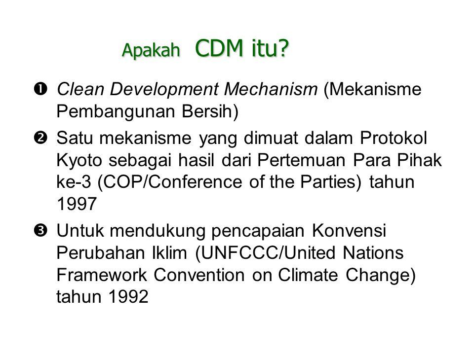 Apakah CDM itu Clean Development Mechanism (Mekanisme Pembangunan Bersih)