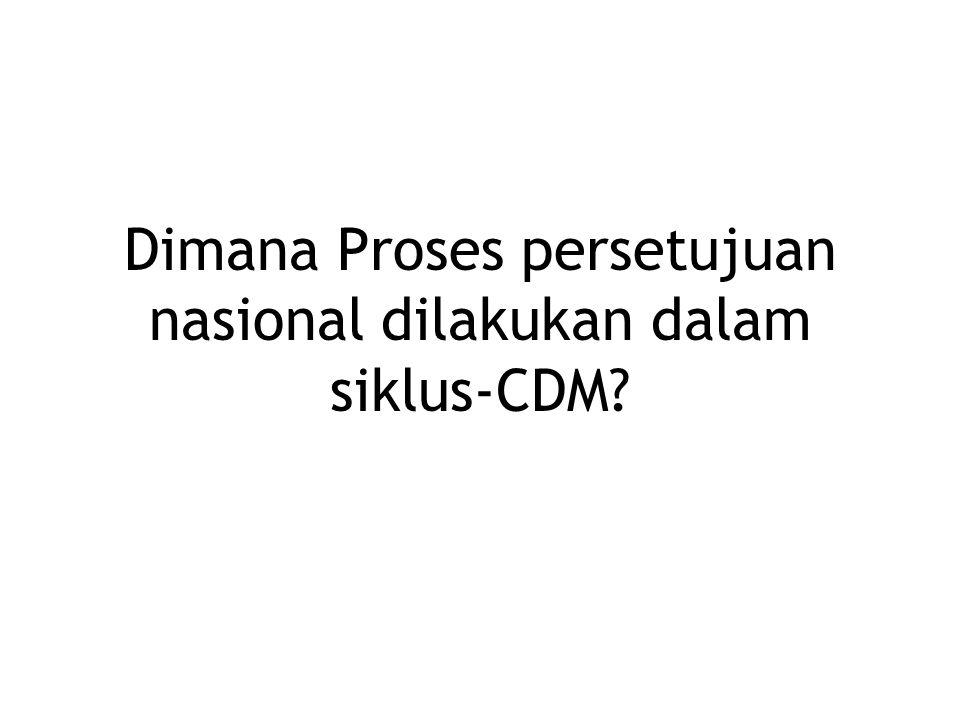 Dimana Proses persetujuan nasional dilakukan dalam siklus-CDM