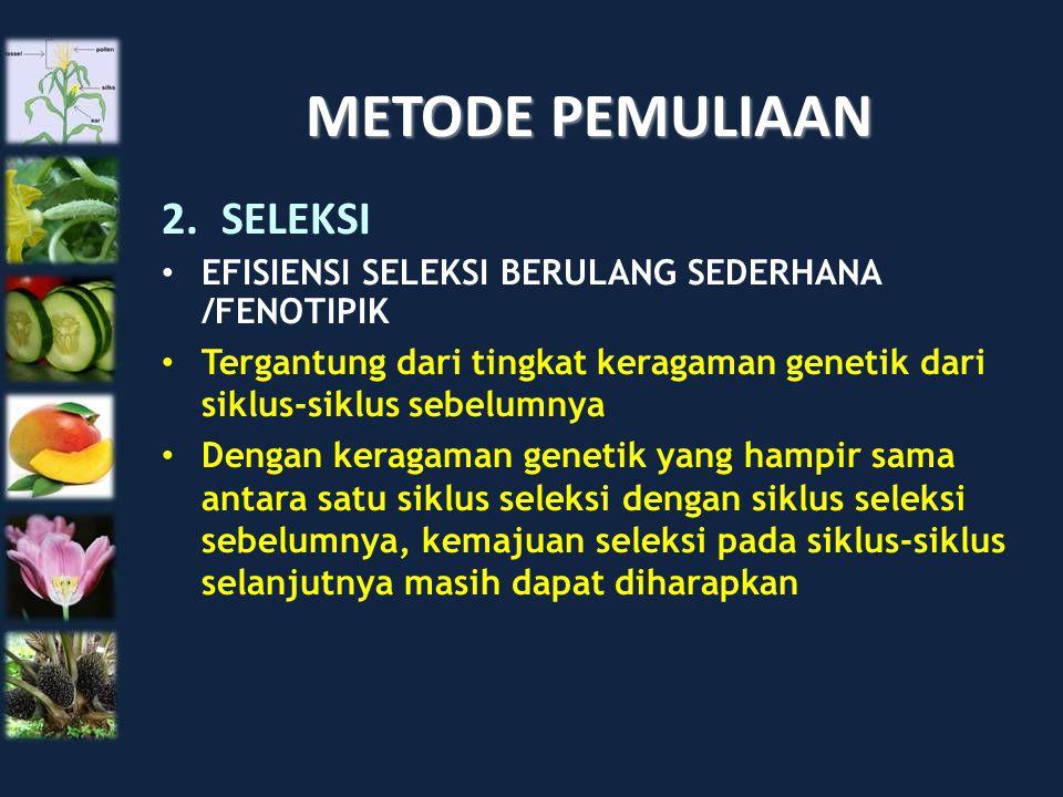 METODE PEMULIAAN SELEKSI