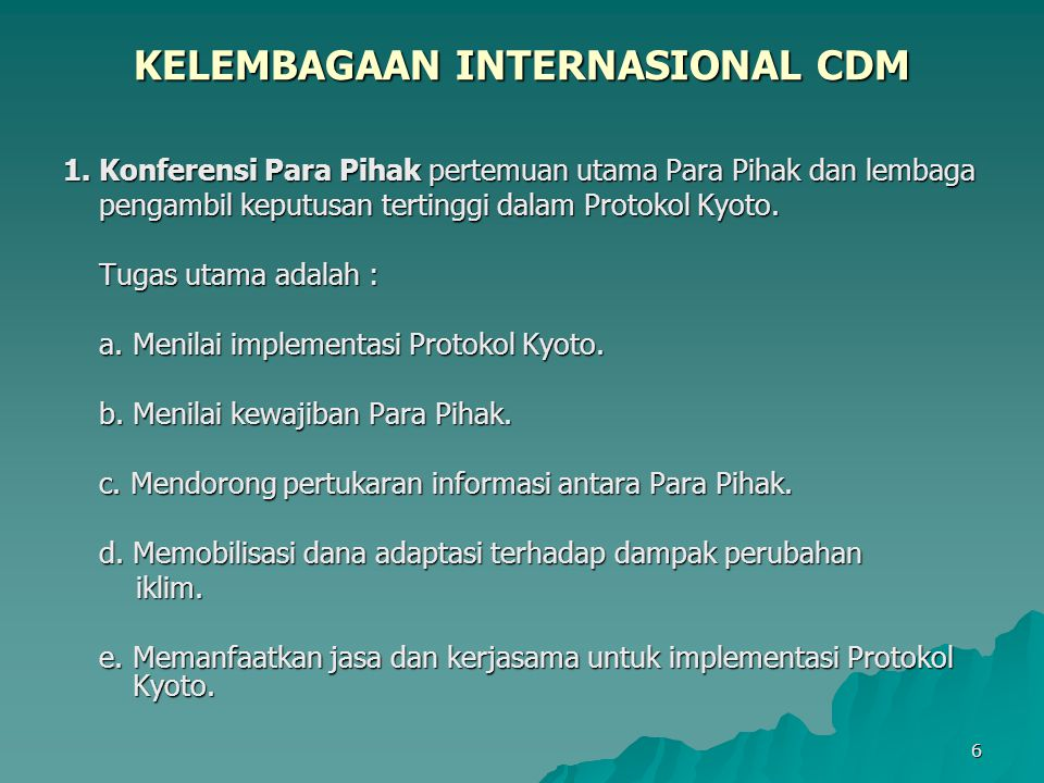 KELEMBAGAAN INTERNASIONAL CDM