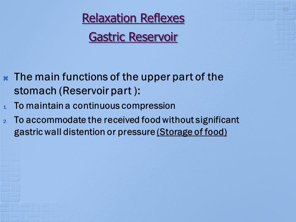 Relaxation Reflexes Gastric Reservoir