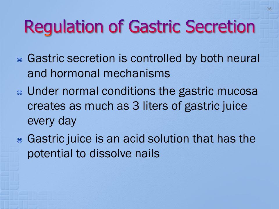 Regulation of Gastric Secretion