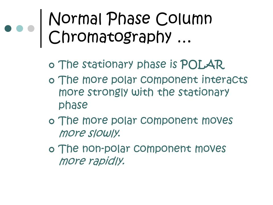 Normal Phase Column Chromatography …