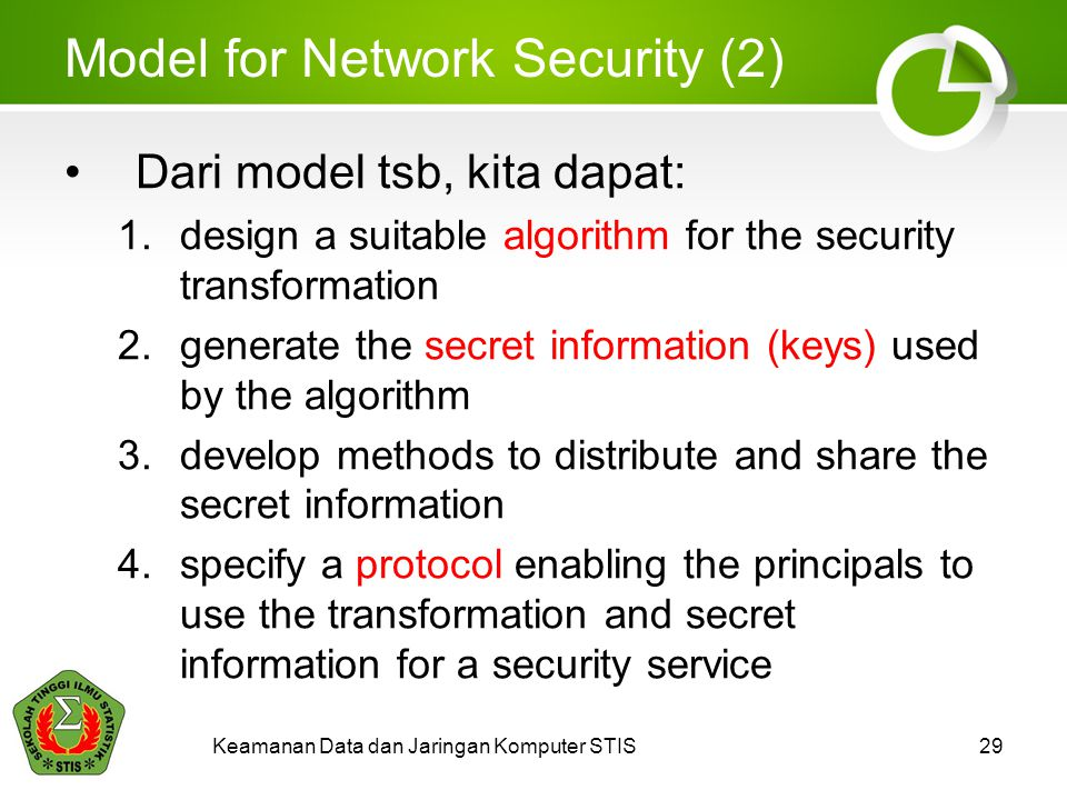 Model for Network Security (2)