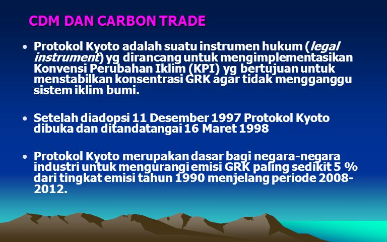 CDM DAN CARBON TRADE