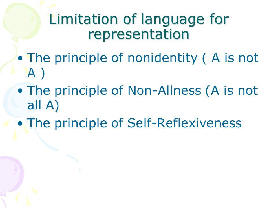 Limitation of language for representation