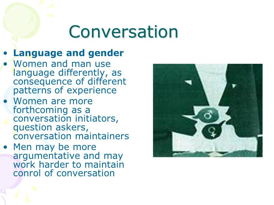 Conversation Language and gender