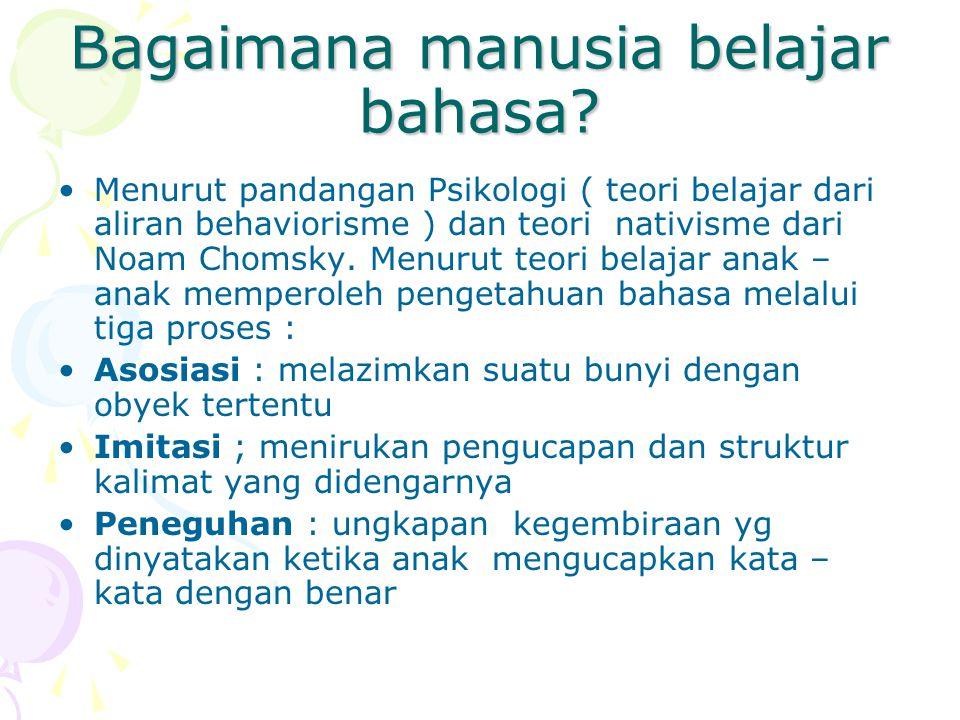 Bagaimana manusia belajar bahasa