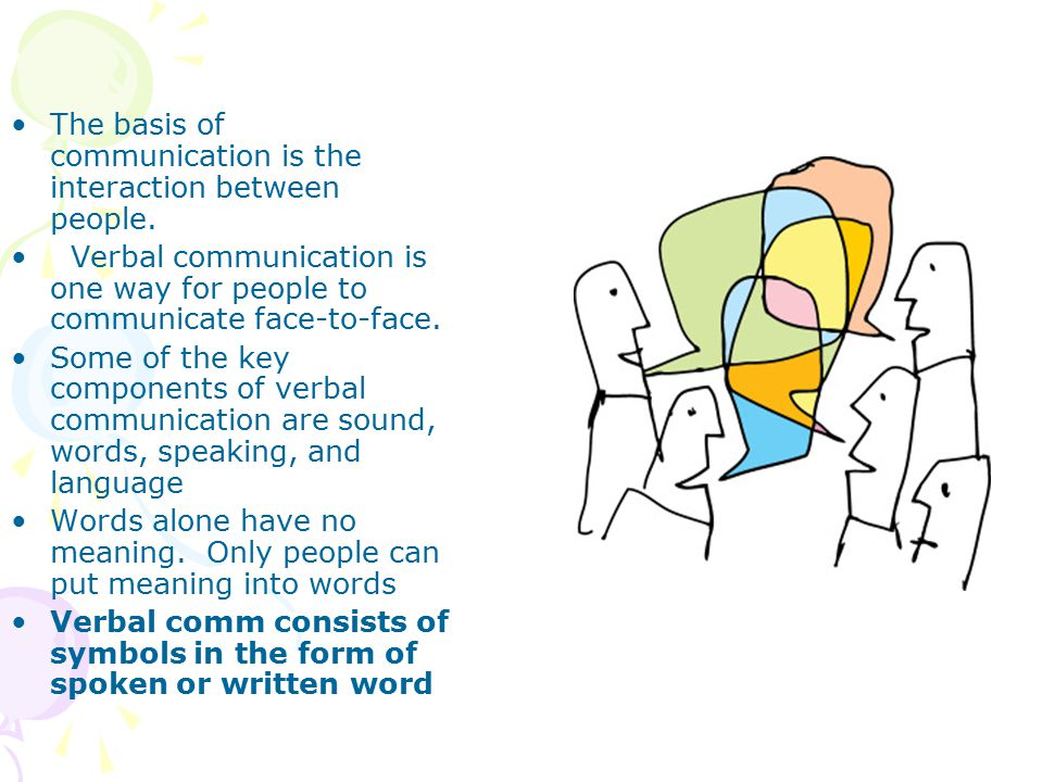 The basis of communication is the interaction between people.