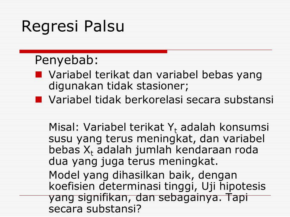 Regresi Palsu Penyebab: