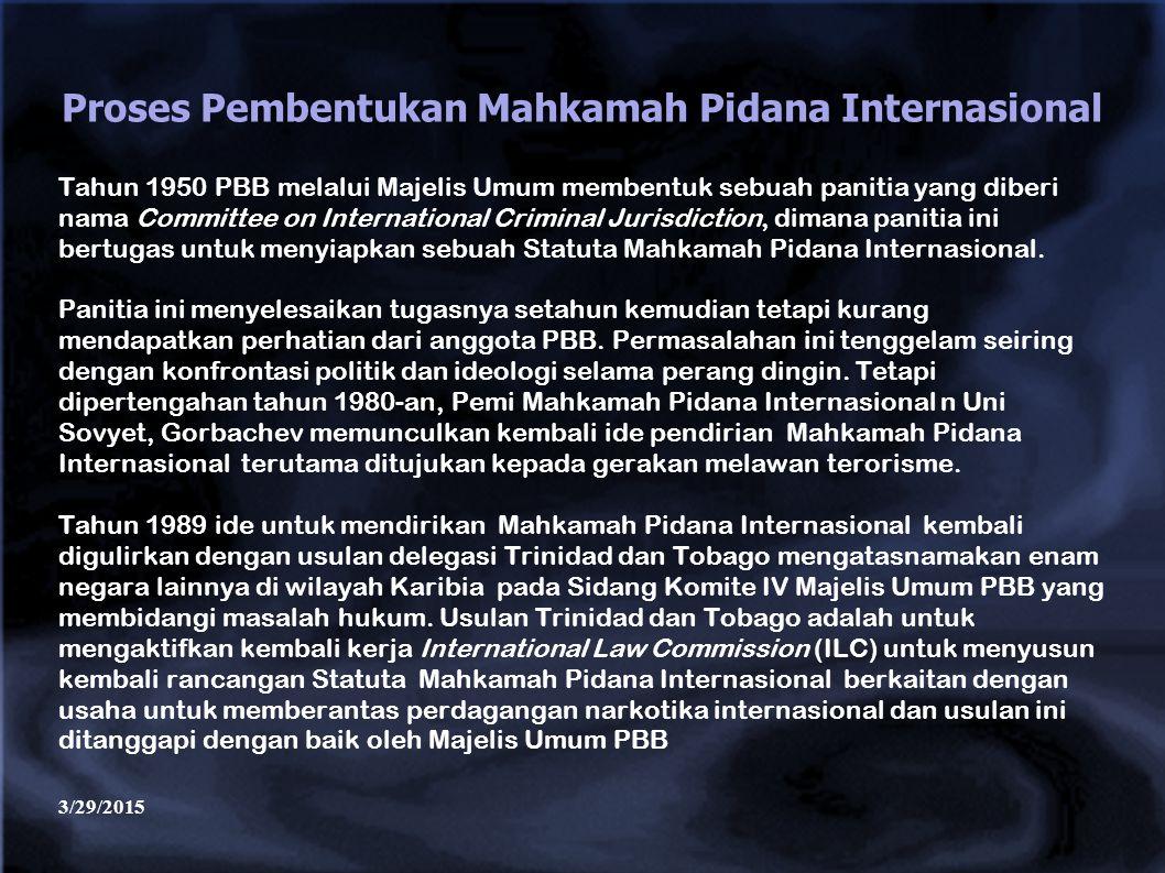 Proses Pembentukan Mahkamah Pidana Internasional