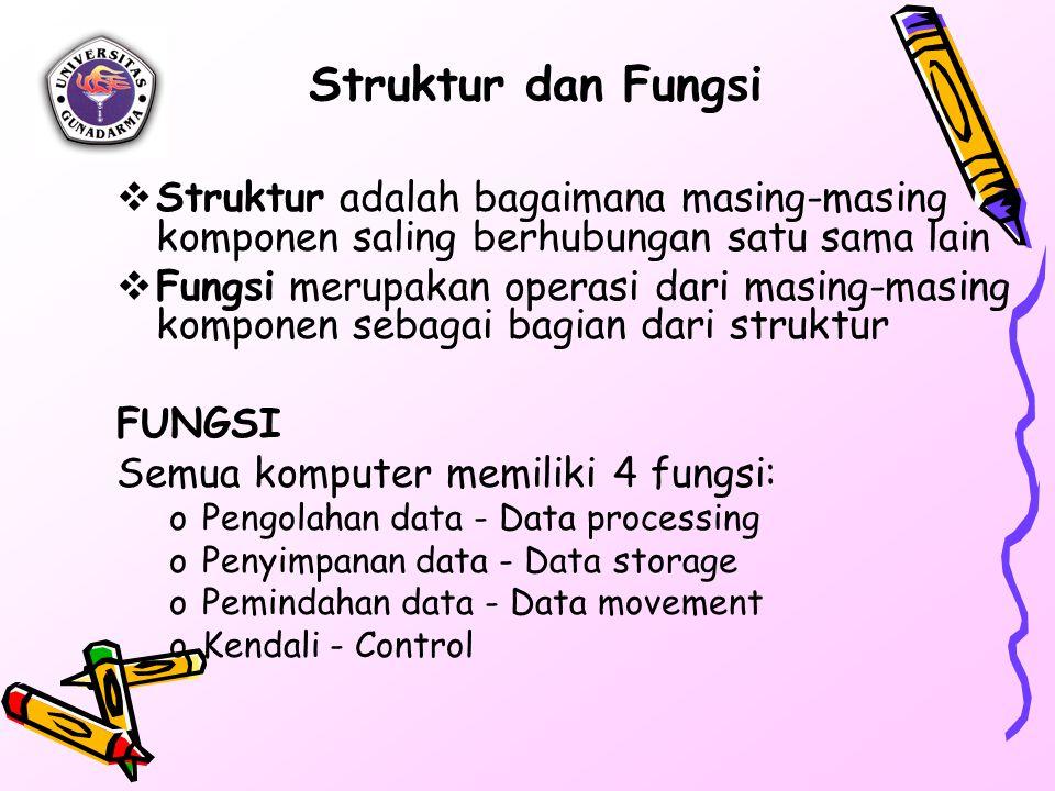 Struktur dan Fungsi Struktur adalah bagaimana masing-masing komponen saling berhubungan satu sama lain.