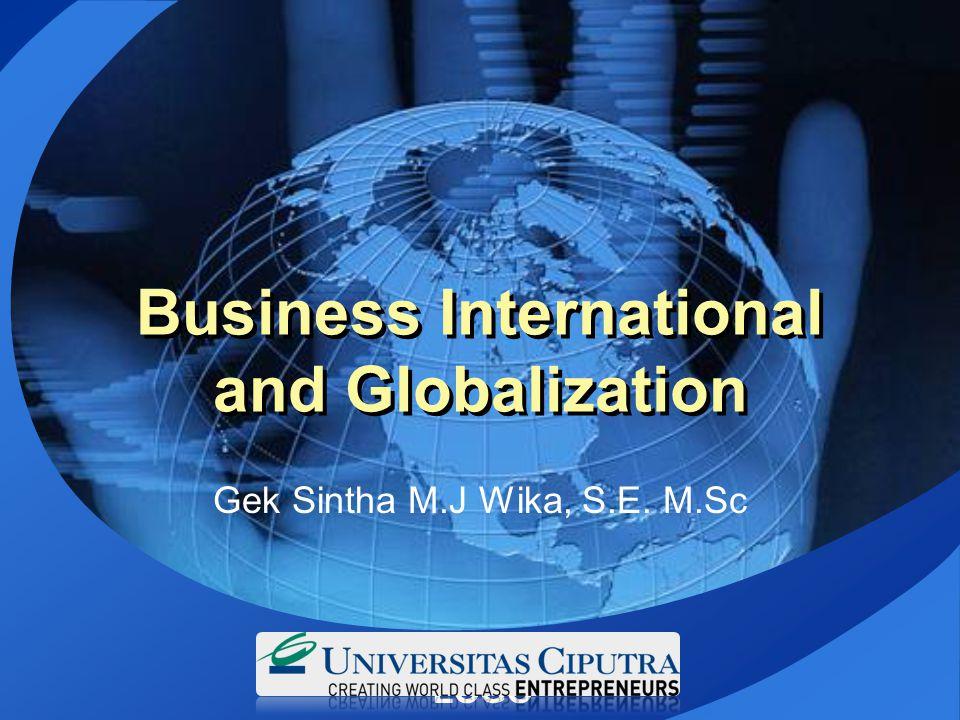 Business International and Globalization