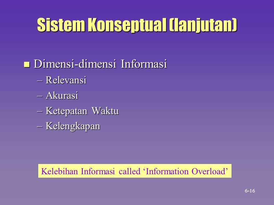 Sistem Konseptual (lanjutan)