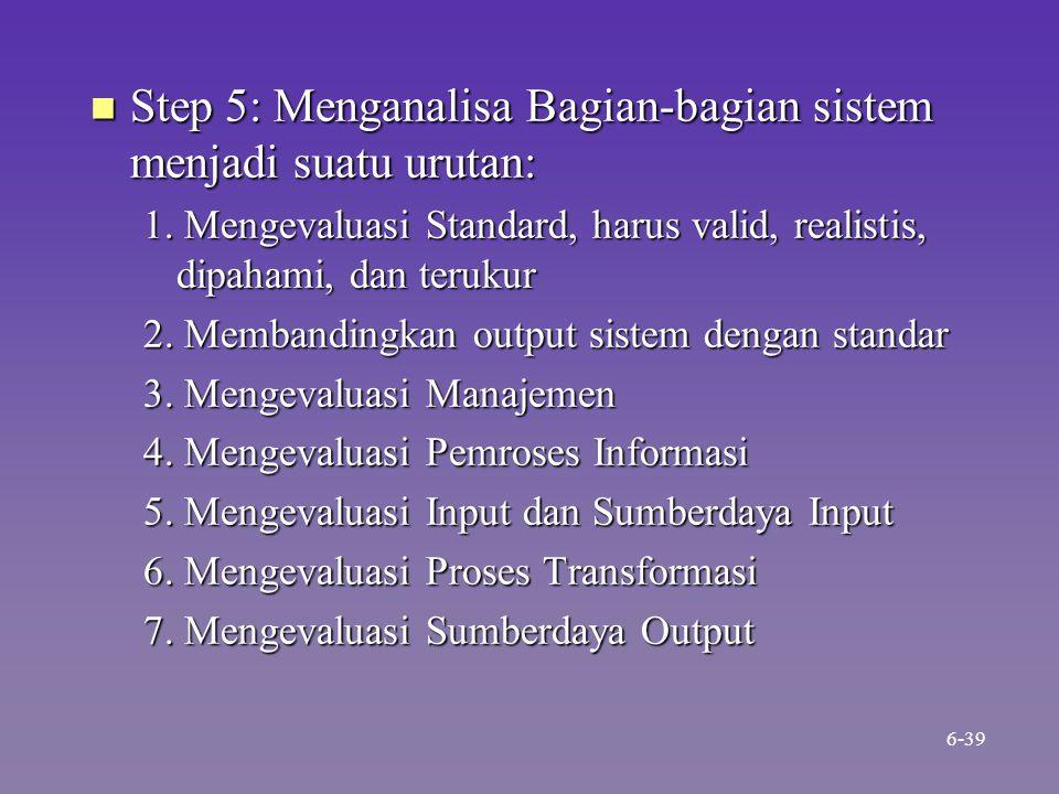 Step 5: Menganalisa Bagian-bagian sistem menjadi suatu urutan: