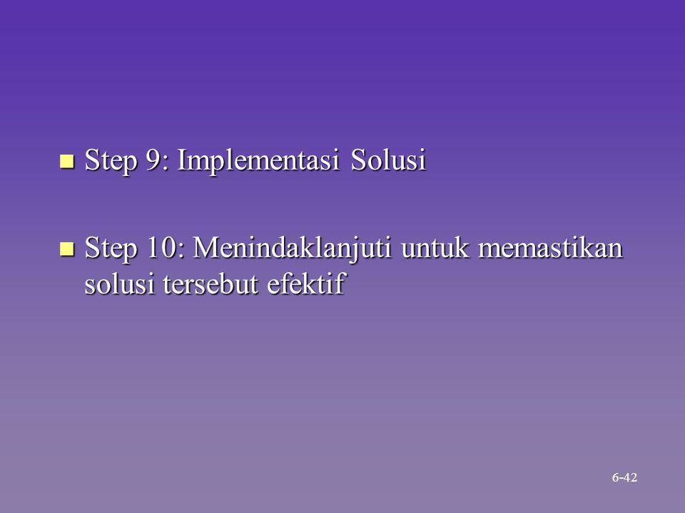 Step 9: Implementasi Solusi