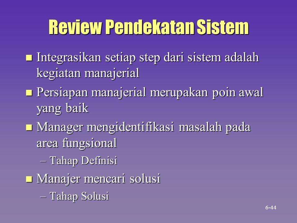 Review Pendekatan Sistem