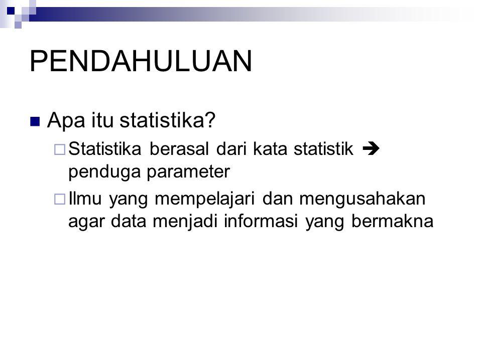 PENDAHULUAN Apa itu statistika