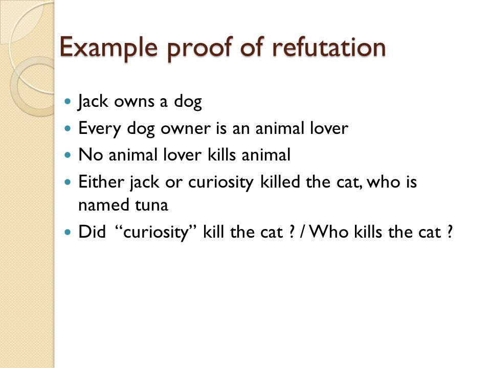 Example proof of refutation