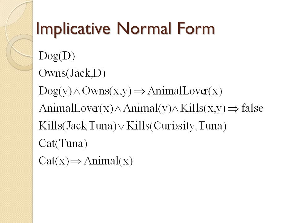 Implicative Normal Form