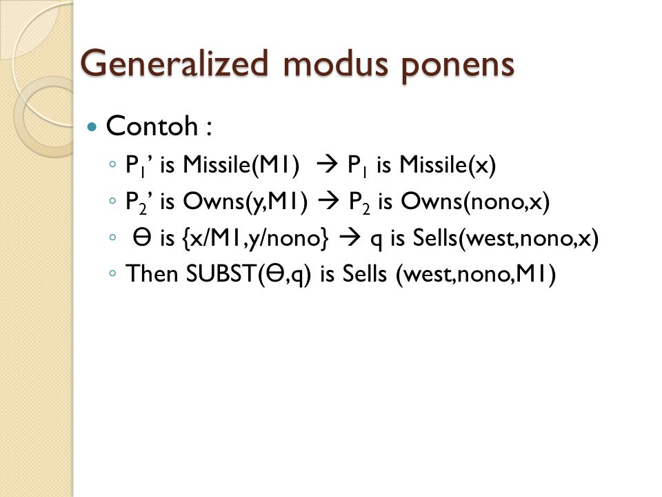 Generalized modus ponens