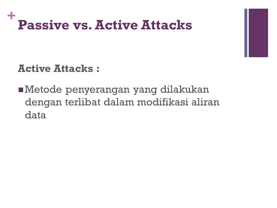 Passive vs. Active Attacks