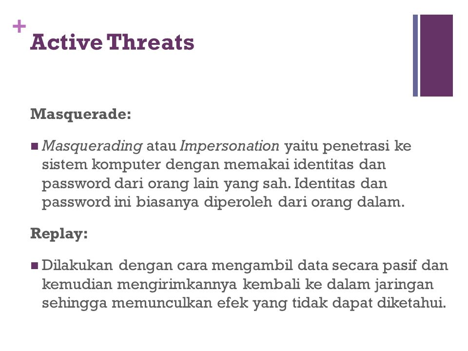 Active Threats Masquerade: